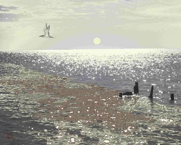Digital Art - Oil Spill by Tony Rodriguez