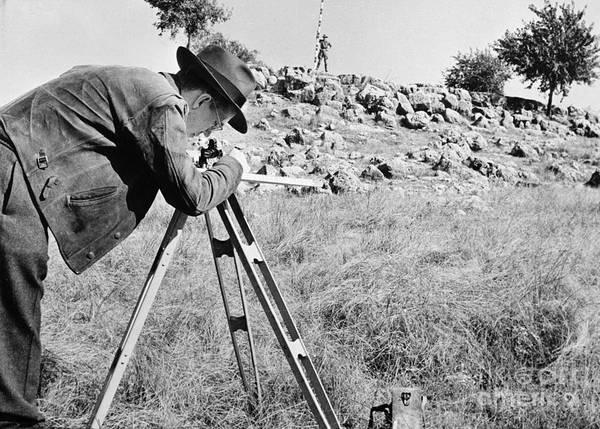 Photograph - Oil Surveyors, C1944 by Granger