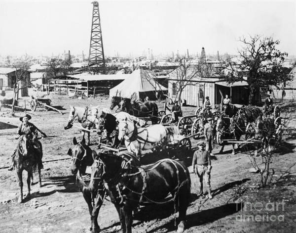 Photograph - Oil: Texas, 1920 by Granger
