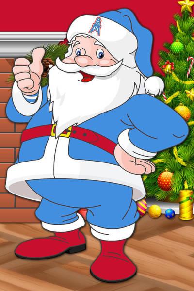 Oilers Santa Claus Art Print