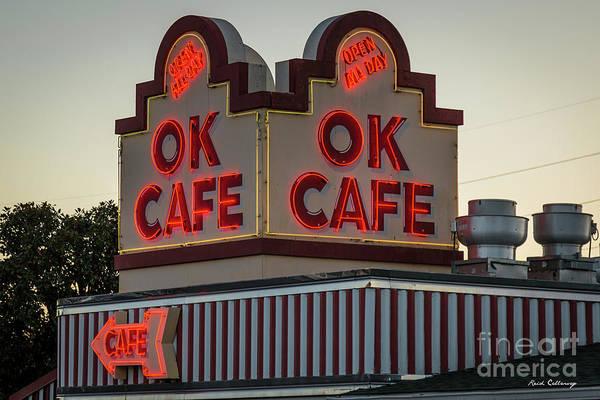 Photograph - Ok Cafe Neon 2 Atlanta Classic Landmark Restaurant Art by Reid Callaway