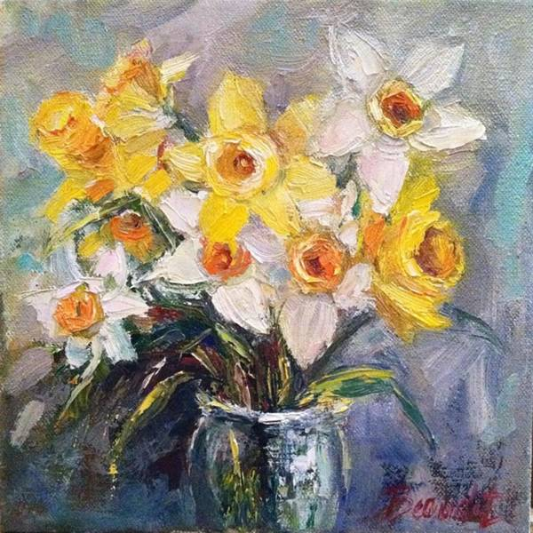 Artist Wall Art - Photograph - Ok Finished! #springflowers #daffodils by Jennifer Beaudet