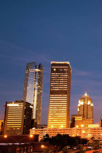 Photograph - Okc Downtown Skyline Vertical by Gregory Ballos