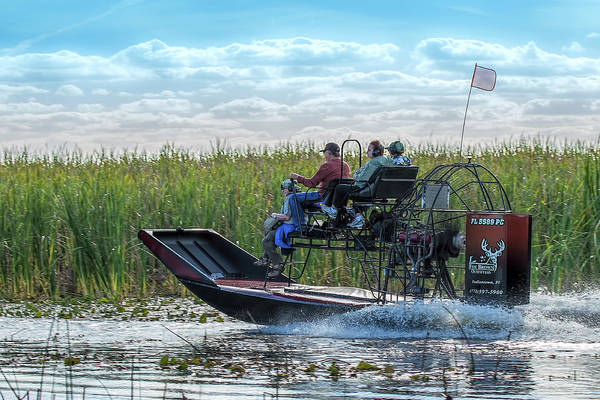 Photograph - Okeechobee Airboat Journey by Richard Goldman