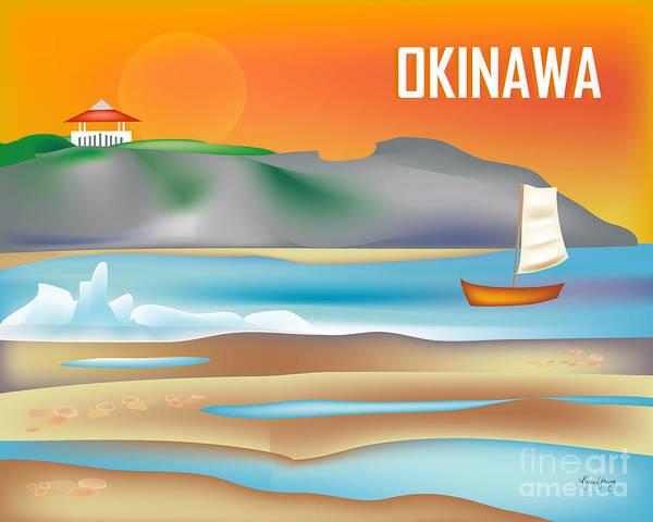 Wall Art - Digital Art - Okinawa Japan Horizontal Scene by Karen Young