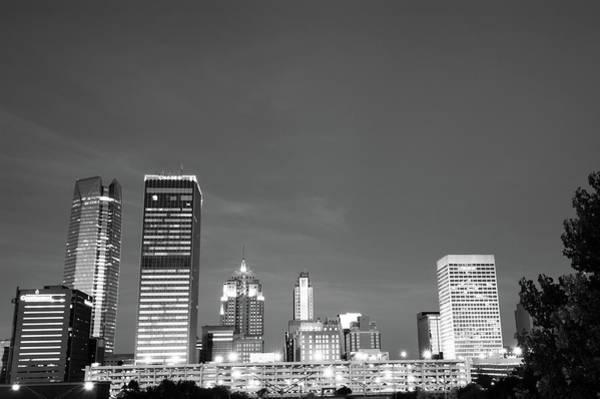 Photograph - Oklahoma City Skyline - Downtown Okc - Black And White by Gregory Ballos