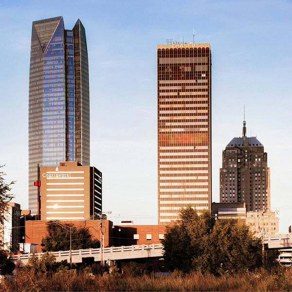 Photograph - Oklahoma City Skyline Square Washed Out by Gregory Ballos