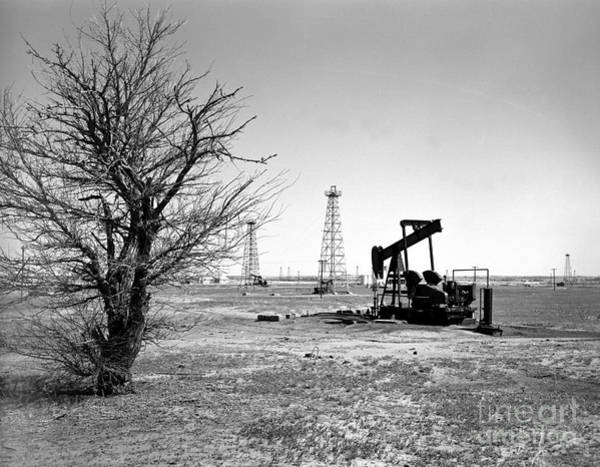 Dry Photograph - Oklahoma Oil Field by Larry Keahey