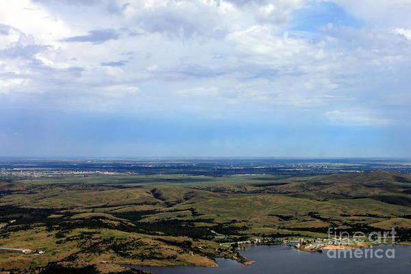 Wall Art - Photograph - Oklahoma Skyline With Lake by Eric Irion
