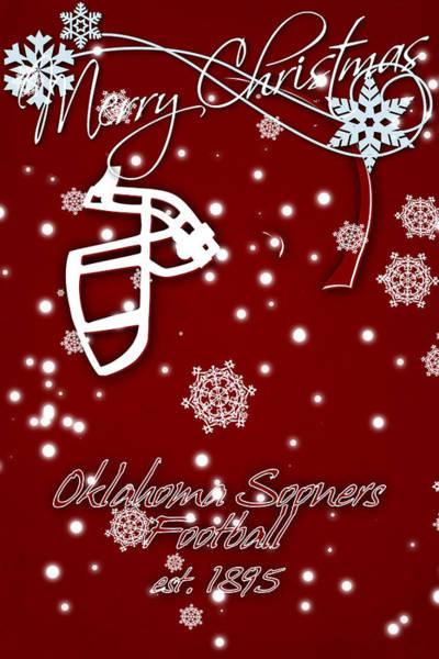 Oklahoma Sooners Christmas Card Art Print