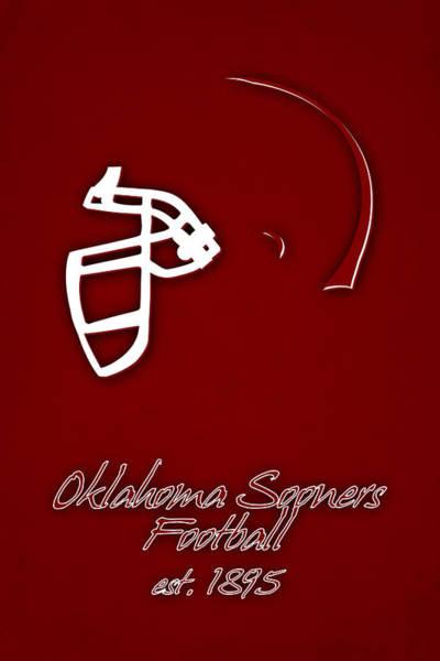 Champ Photograph - Oklahoma Sooners Helmet by Joe Hamilton