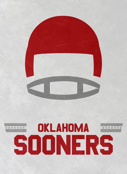 Division One Wall Art - Mixed Media - Oklahoma Sooners Vintage Football Art by Joe Hamilton