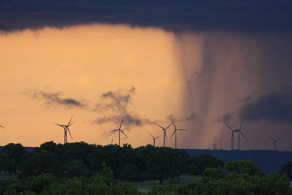 Photograph - Oklahoma Storm Clouds And Wind Turbines by Sheila Brown
