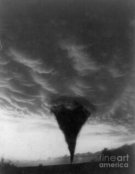 Photograph - Oklahoma Tornado, C1898 - To License For Professional Use Visit Granger.com by Granger