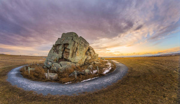 Glacial Erratic Photograph - Okotoks Big Rock Erratic by Dwayne Schnell
