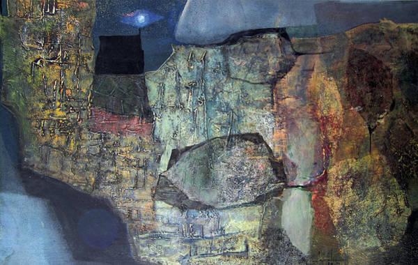 Abstractionism Painting - Ol1959ar001ba Abstract Landscape Of Potosi Bolivia 21.6 X 36 by Alfredo Da Silva
