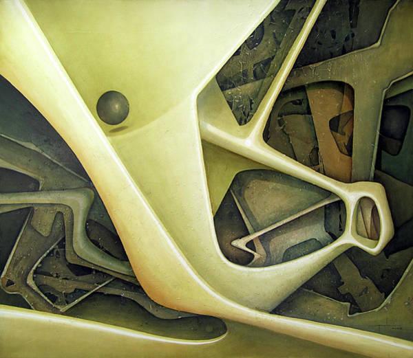Ol1962dc001 Micro Cosmos 48x58 Art Print by Alfredo Da Silva