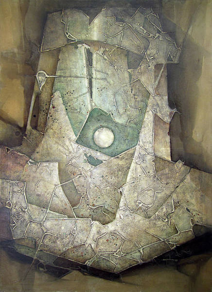 Abstractionism Painting - Ol1963ny001 Majic Planet 36x50 by Alfredo Da Silva