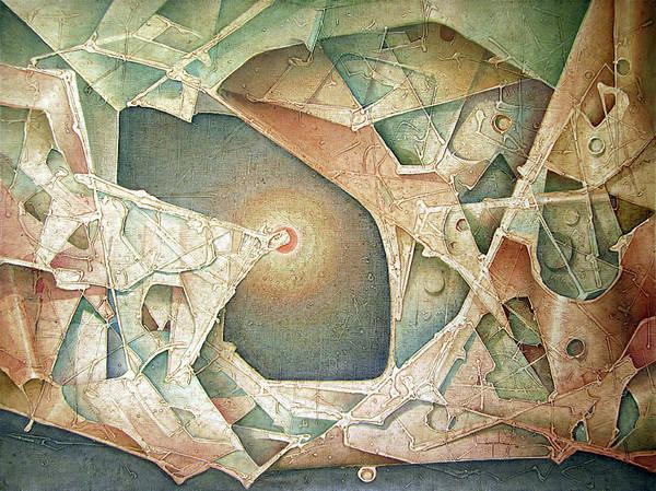 Bolivia Painting - Ol1963ny002 Structure 44x60 by Alfredo Da Silva