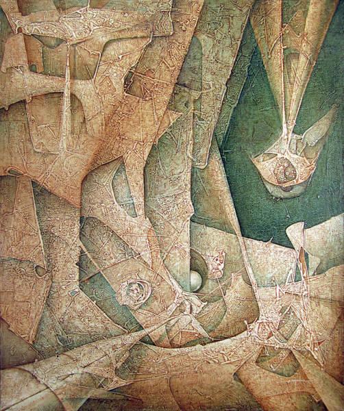 Abstractionism Painting - Ol1963ny003 Mitoformas  49x60.1 by Alfredo Da Silva