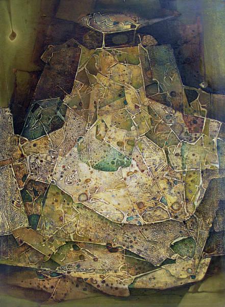 Abstractionism Painting - Ol1964ny001 Edad De Oro 36x50 by Alfredo Da Silva