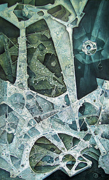 Abstractionism Painting - Ol1964ny002 Transfiguration 41x70 by Alfredo Da Silva