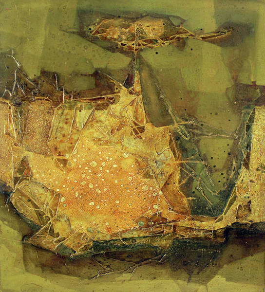 Abstractionism Painting - Ol1964ny005 New Dimention 36 X 39.6 by Alfredo Da Silva