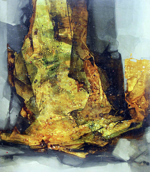 Abstractionism Painting - Ol1964ny007 Abstract Deformation 36 X 41 by Alfredo Da Silva
