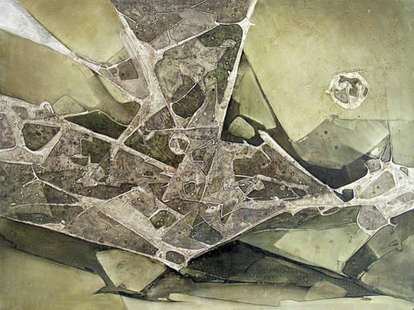 Abstractionism Painting - Ol1974ny001 Desplasamiento 44 X 60 by Alfredo Da Silva