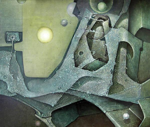 Abstractionism Painting - Ol1976dc001 Espiritu De La Tierra 49 X 58 by Alfredo Da Silva