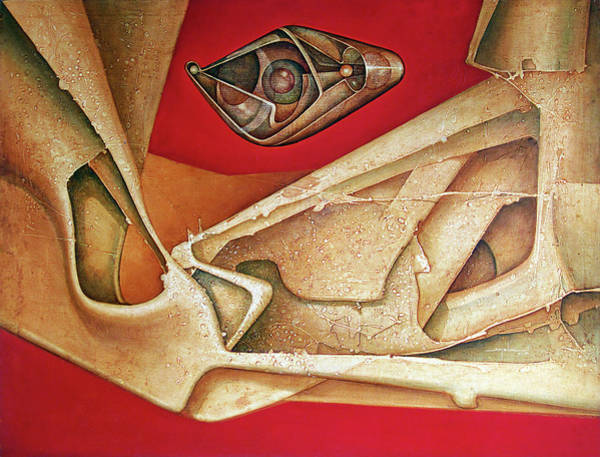 Abstractionism Painting - Ol1976dc002 Grises En El Pasado 38 X 50 by Alfredo Da Silva
