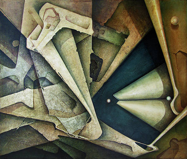 Abstractionism Painting - Ol1976ny001 Sideral Space 58x49 by Alfredo Da Silva
