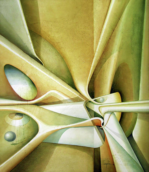 Abstractionism Painting - Ol1992dc001 Light Of Time 58x49 by Alfredo Da Silva