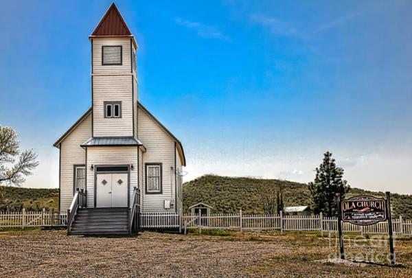 Village Creek Photograph - Ola Community Church by Robert Bales