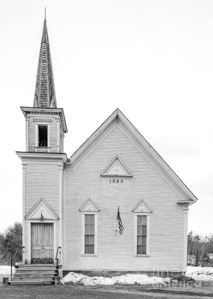 Wall Art - Photograph - Old 1885 White Church In Newport New Hampshire by Edward Fielding