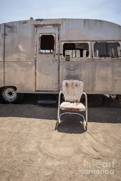 Wall Art - Photograph - Old 1930 Silver Camping Trailer by Edward Fielding