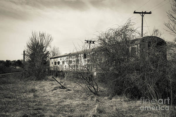 Photograph - Old Abandoned Railroad Passenger Car Cape Cod by Edward Fielding