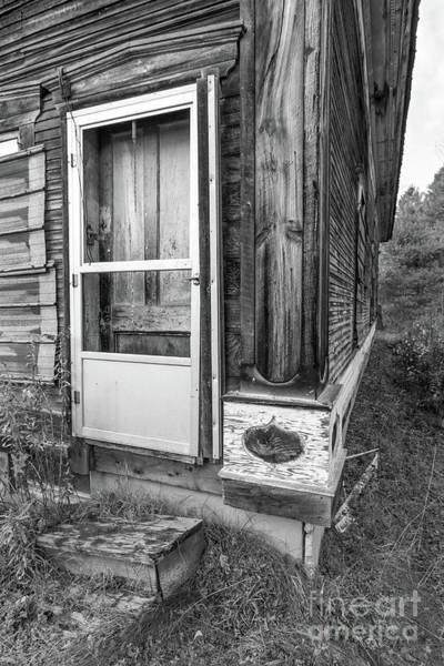 Abandoned House Wall Art - Photograph - Old Abandoned Wood Framed Home Wolcott Vermont by Edward Fielding
