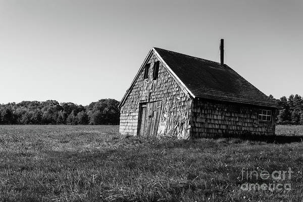 Photograph - Old Abandoned Wooden Barn by Edward Fielding