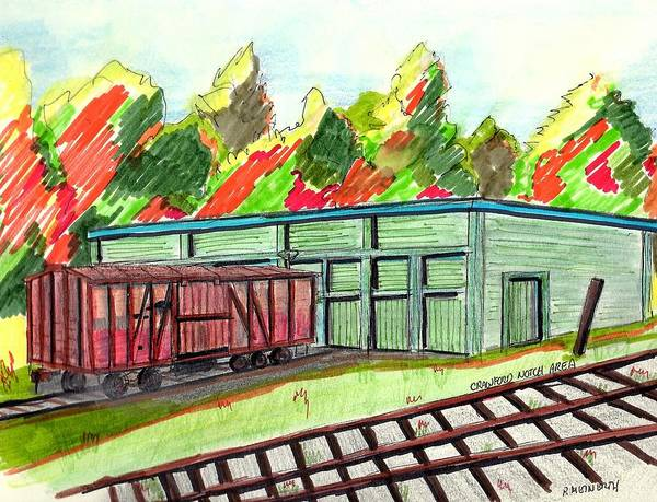 Car Drawings Mixed Media - Old Age Box Car by Paul Meinerth