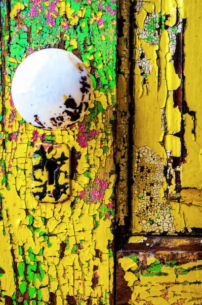 Wall Art - Photograph - Old Aged Door With Doorknob by Garry Gay