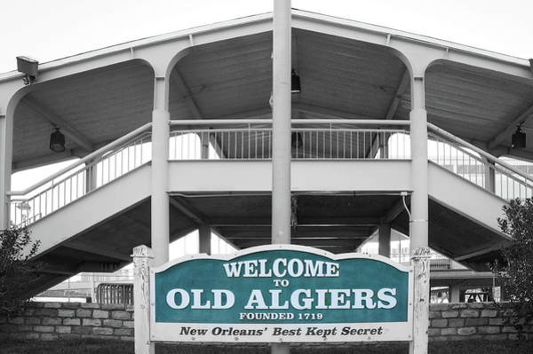 Wall Art - Photograph - Old Algiers Welcome Sign by Art Spectrum