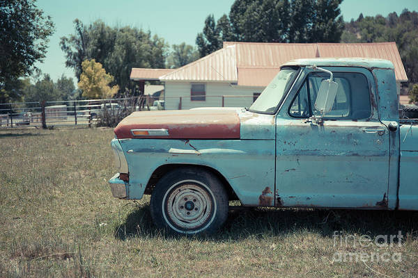 Wall Art - Photograph - Old American Pickup Truck by Edward Fielding