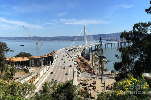 Photograph - Old And New Bay Bridge April 26 2015 by California Views Archives Mr Pat Hathaway Archives