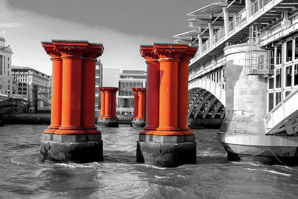 Wall Art - Photograph - Old And New Blackfriars Railway by Greg Fortier