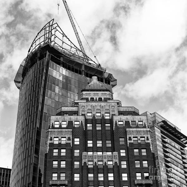 Wall Art - Photograph - Old And New In Vancouver Mono by John Rizzuto