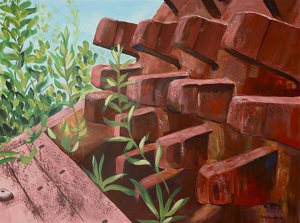 Wall Art - Painting - Old And New by Judy Swerlick