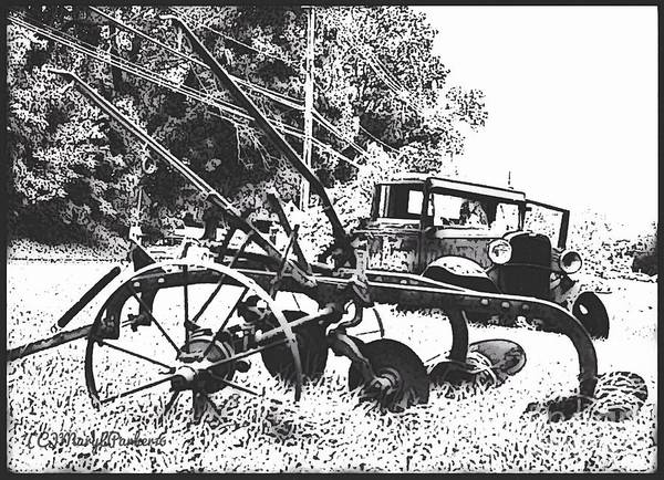 Old And Rusty In Black White Art Print