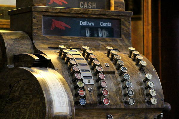 Photograph - Old Antique Cash Register by Colleen Cornelius