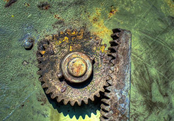 Photograph - Old Artillery Elevation Control by Gary Slawsky